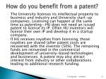 how do you benefit from a patent