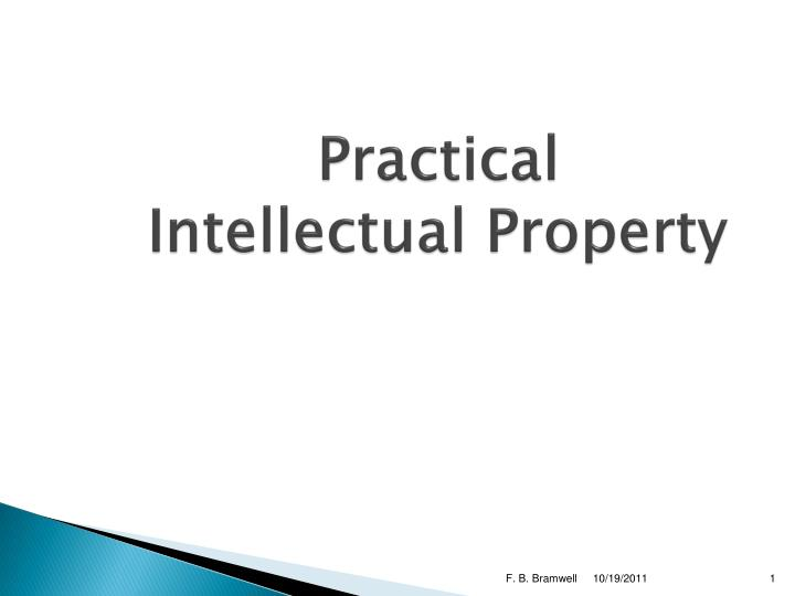 practical intellectual property n.