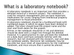 what is a laboratory notebook