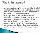 who is the inventor