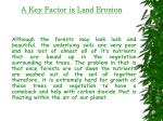 a key factor is land erosion