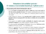 stimularea investi iilor private o viziune a guvernului bazat pe 3 piloni cont