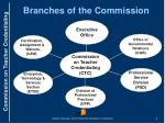 branches of the commission