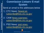 commission listserv e mail system
