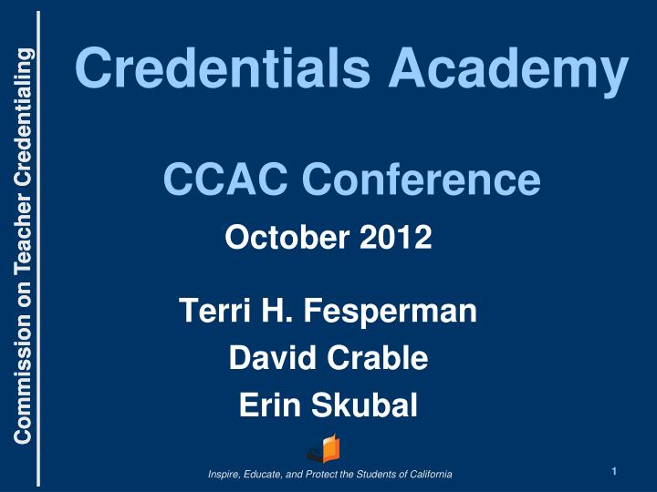 credentials academy ccac conference n.