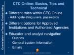ctc online basics tips and technical