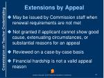 extensions by appeal