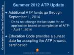 summer 2012 atp update