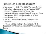 future on line resources1