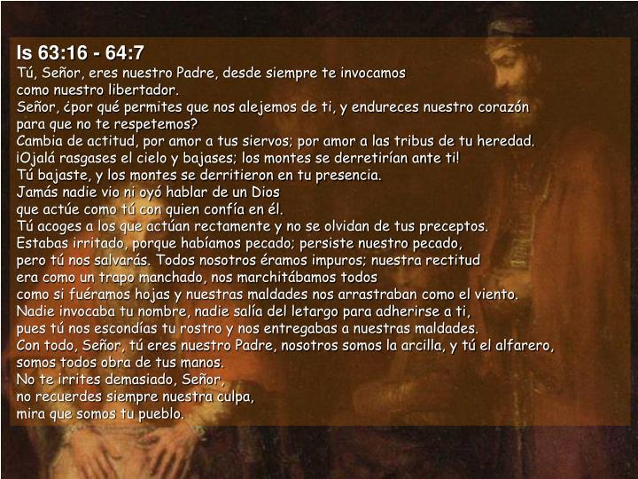 Is 63:16 - 64:7