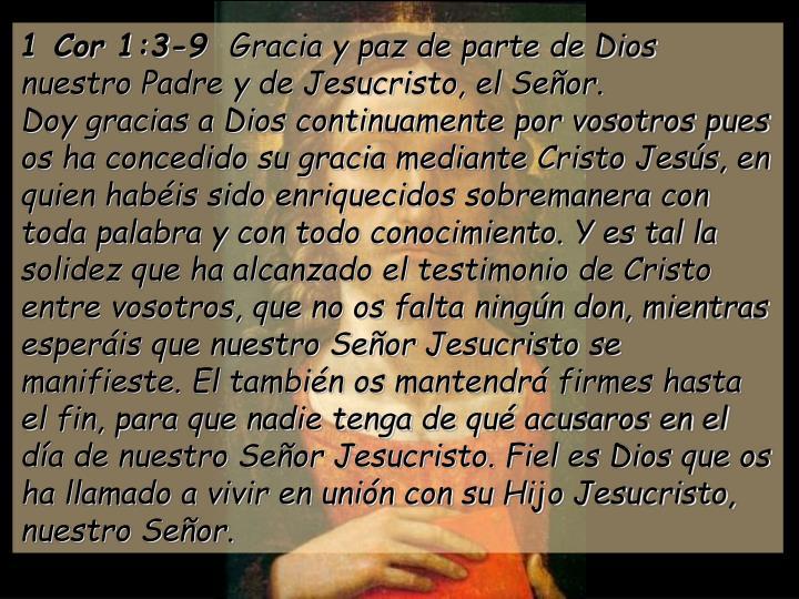 1 Cor 1:3-9