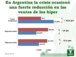 en argentina la crisis ocasion una fuerte reducci n en las ventas de los hiper
