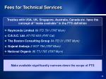 fees for technical services