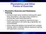 plyometrics and other forms of exercise