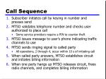 call sequence