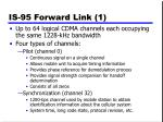 is 95 forward link 1