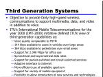 third generation systems