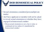 dod homosexual policy1