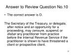 answer to review question no 10