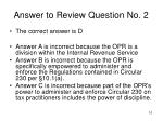 answer to review question no 2