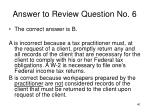 answer to review question no 6