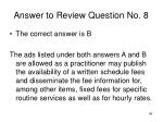 answer to review question no 8