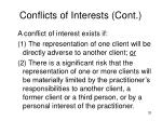 conflicts of interests cont