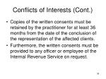 conflicts of interests cont3