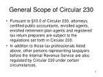 general scope of circular 230
