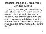 incompetence and disreputable conduct cont11
