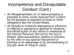incompetence and disreputable conduct cont4