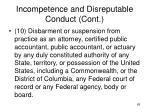 incompetence and disreputable conduct cont5