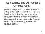 incompetence and disreputable conduct cont7