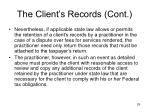 the client s records cont