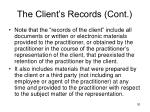 the client s records cont1