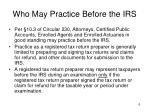 who may practice before the irs