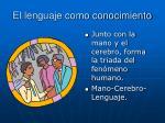 el lenguaje como conocimiento1