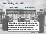 data mining circa 1963