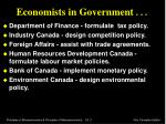 economists in government