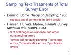 sampling text treatments of total survey error