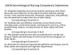 aacn gerontological nursing competency statements3