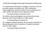 aacn gerontological nursing competency statements4
