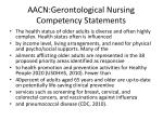 aacn gerontological nursing competency statements7