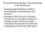 the geriatric nurse educator geriatric nursing in the 21st century