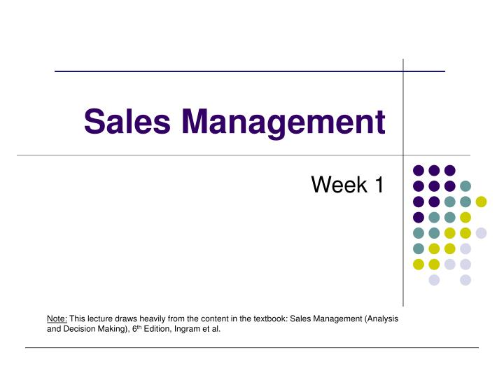 sales management n.