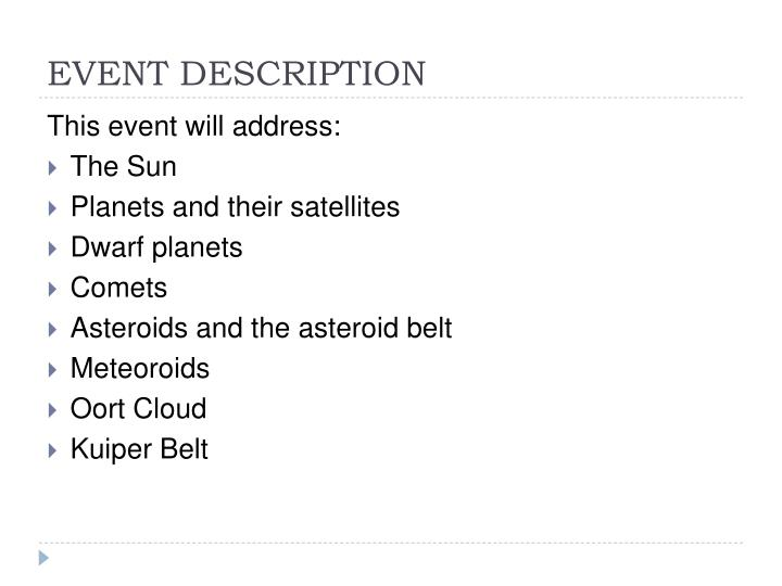 Event description