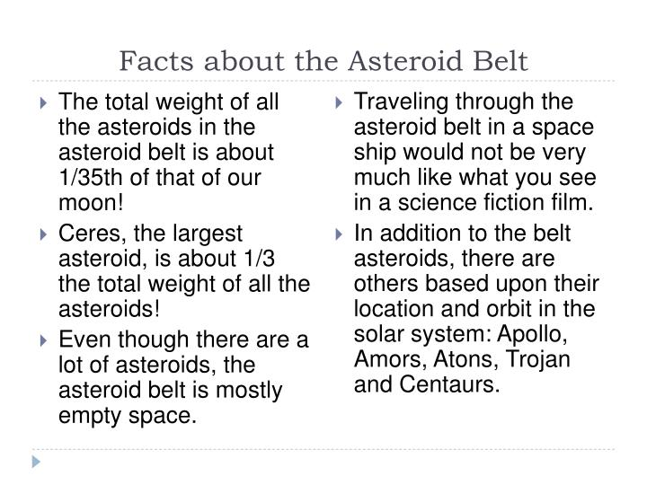 Facts about the Asteroid Belt