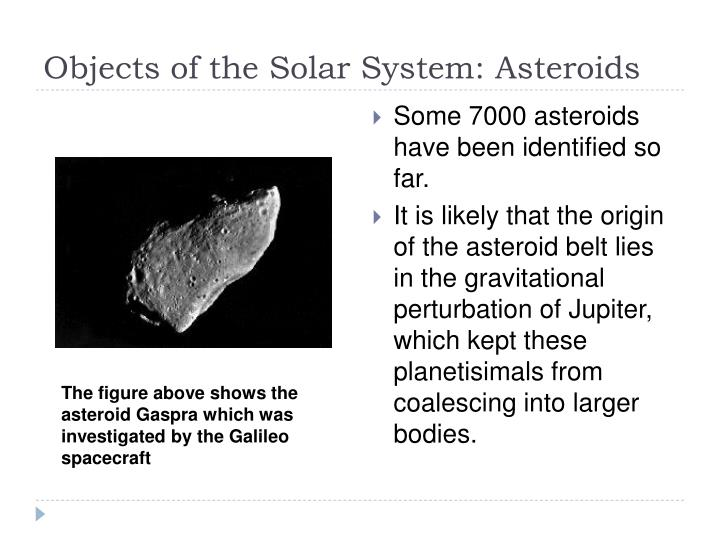 Objects of the Solar System: Asteroids