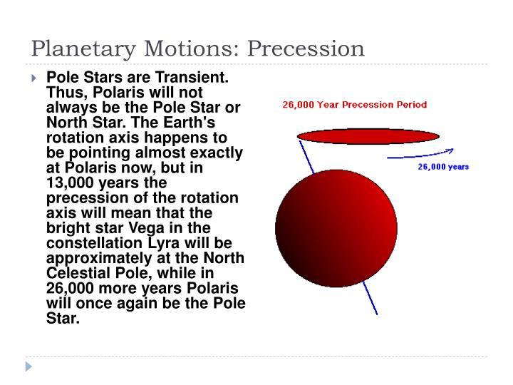 Planetary Motions: Precession