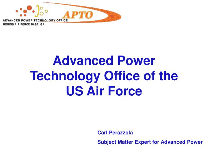 advanced power technology office of the us air force n.